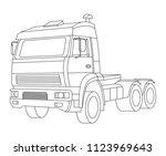 truck vector illustration and... | Shutterstock .eps vector #1123969643