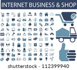 internet business & shop icons set, vector - stock vector