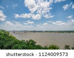 mississippi river view from... | Shutterstock . vector #1124009573