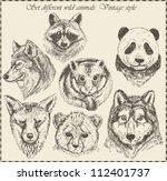 vector set  different wild...   Shutterstock .eps vector #112401737