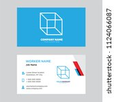 package business card design... | Shutterstock .eps vector #1124066087