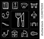 set of 13 simple editable icons ... | Shutterstock .eps vector #1124070203
