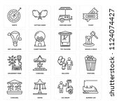 set of 16 icons such as bumper...