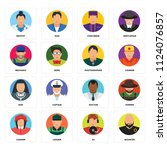 set of 16 icons such as bouncer ...