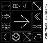 set of 13 simple editable icons ... | Shutterstock .eps vector #1124081717