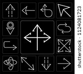 set of 13 simple editable icons ... | Shutterstock .eps vector #1124081723