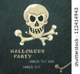 grungy halloween background... | Shutterstock .eps vector #112414943