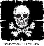 skull and crossbones over black ...