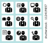 person icon  human  business... | Shutterstock .eps vector #112419857