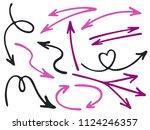 hand drawn diagram arrow icons...   Shutterstock .eps vector #1124246357