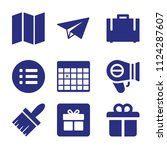 set of 9 other filled icons...   Shutterstock .eps vector #1124287607