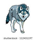 wolf vector picture standing...