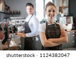 successful business owner ... | Shutterstock . vector #1124382047