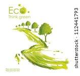 illustration environmentally... | Shutterstock . vector #112441793