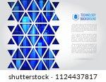 futuristic high computer... | Shutterstock .eps vector #1124437817
