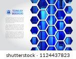 futuristic high computer... | Shutterstock .eps vector #1124437823