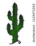 cactus on a white background.... | Shutterstock .eps vector #1124471033