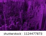 colorful 3d rendering. block ... | Shutterstock . vector #1124477873