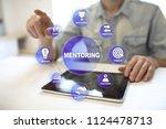 mentoring on the virtual screen.... | Shutterstock . vector #1124478713