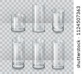 a set of glass glasses. a glass ... | Shutterstock .eps vector #1124507363