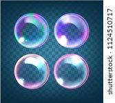 vector set of realistic... | Shutterstock .eps vector #1124510717