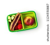 back to school healthy snack on ... | Shutterstock . vector #1124550887