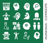 filled set of 16 people icons... | Shutterstock .eps vector #1124563193