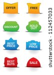 a set of vector illustrate sale ... | Shutterstock .eps vector #112457033