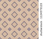 cloth background with geometric ... | Shutterstock . vector #1124573123