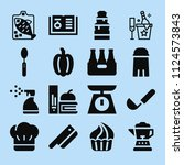 filled food icon set such as... | Shutterstock .eps vector #1124573843