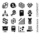 filled business icon set such...   Shutterstock .eps vector #1124584337