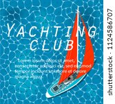 yachting club banner. yacht... | Shutterstock .eps vector #1124586707