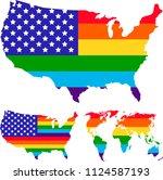 lgbt rights symbols. love is... | Shutterstock .eps vector #1124587193