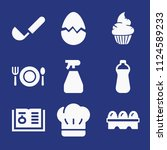 filled food icon set such as... | Shutterstock .eps vector #1124589233