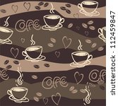 seamless coffee pattern | Shutterstock . vector #112459847