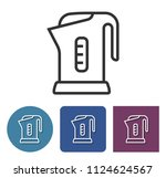 electric kettle line icon in... | Shutterstock . vector #1124624567