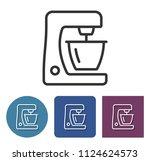 food processor line icon in... | Shutterstock . vector #1124624573