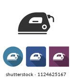 electric iron icon in different ... | Shutterstock . vector #1124625167
