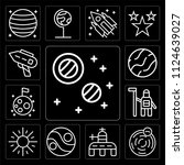 set of 13 simple editable icons ... | Shutterstock .eps vector #1124639027