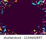 pink cyan blue gold foil... | Shutterstock .eps vector #1124642897
