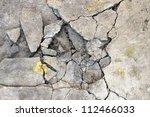 cracked concrete texture... | Shutterstock . vector #112466033