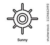 sunny icon vector isolated on... | Shutterstock .eps vector #1124662493