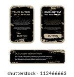 a set of black vector vintage...