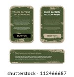 a set of green vector vintage... | Shutterstock .eps vector #112466687