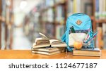 back to school concept with... | Shutterstock . vector #1124677187