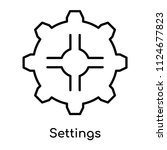 settings icon vector isolated... | Shutterstock .eps vector #1124677823