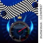 checkered flag  speedometer.... | Shutterstock .eps vector #112469837