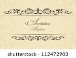invitation cards in an old... | Shutterstock .eps vector #112472903