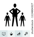 business icons with white... | Shutterstock .eps vector #1124804327