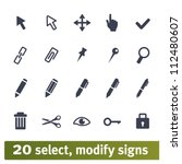 select  modify signs...